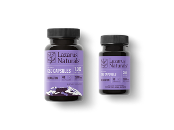 Relaxation CBD Capsules – 25mg by Lazarus Naturals Review
